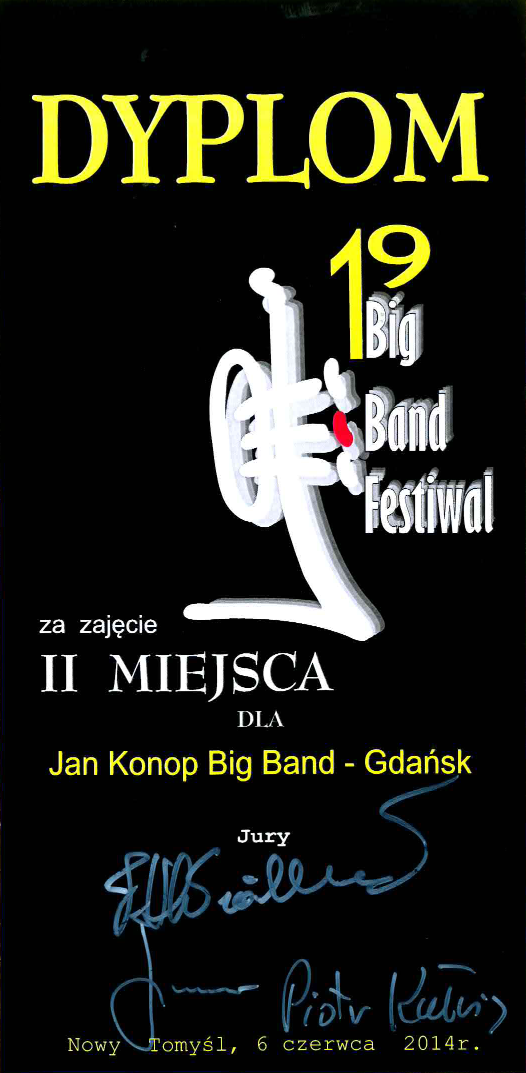 Jan_Konop_Big_Band_Nowy_Tomysl_II_nagroda