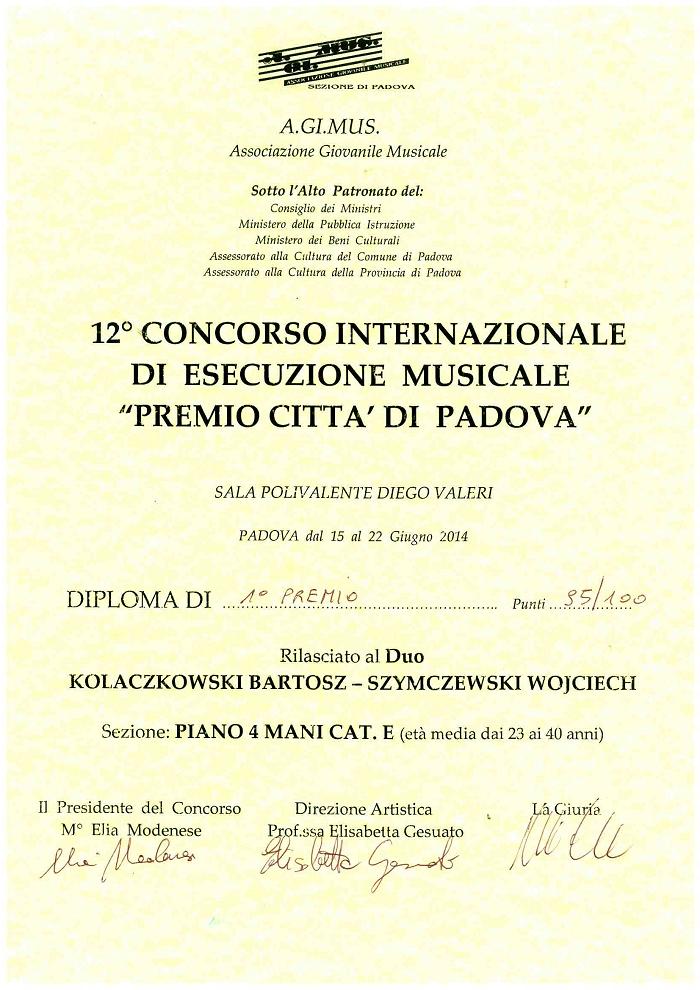Kołaczkowski-Szymczewski_dyplom_I_nagroda_Padwa2014 _www