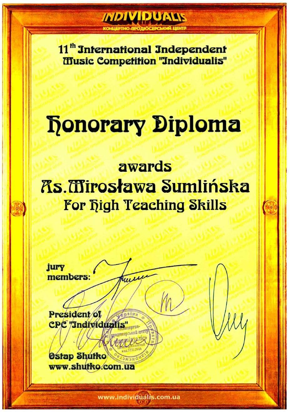 Sumlinska-dyplom