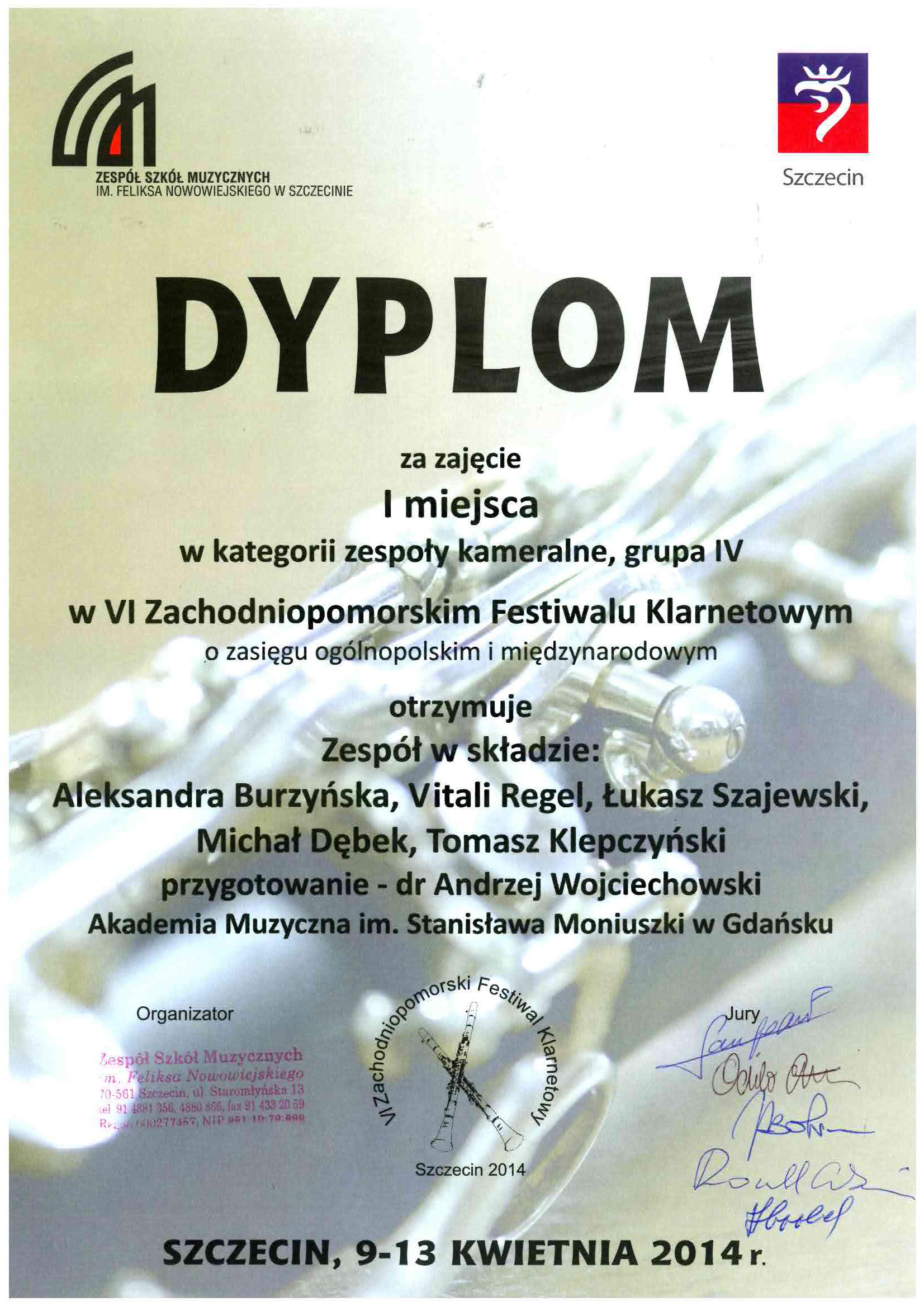 dyplom_I_nagroda_zespol_kameralny