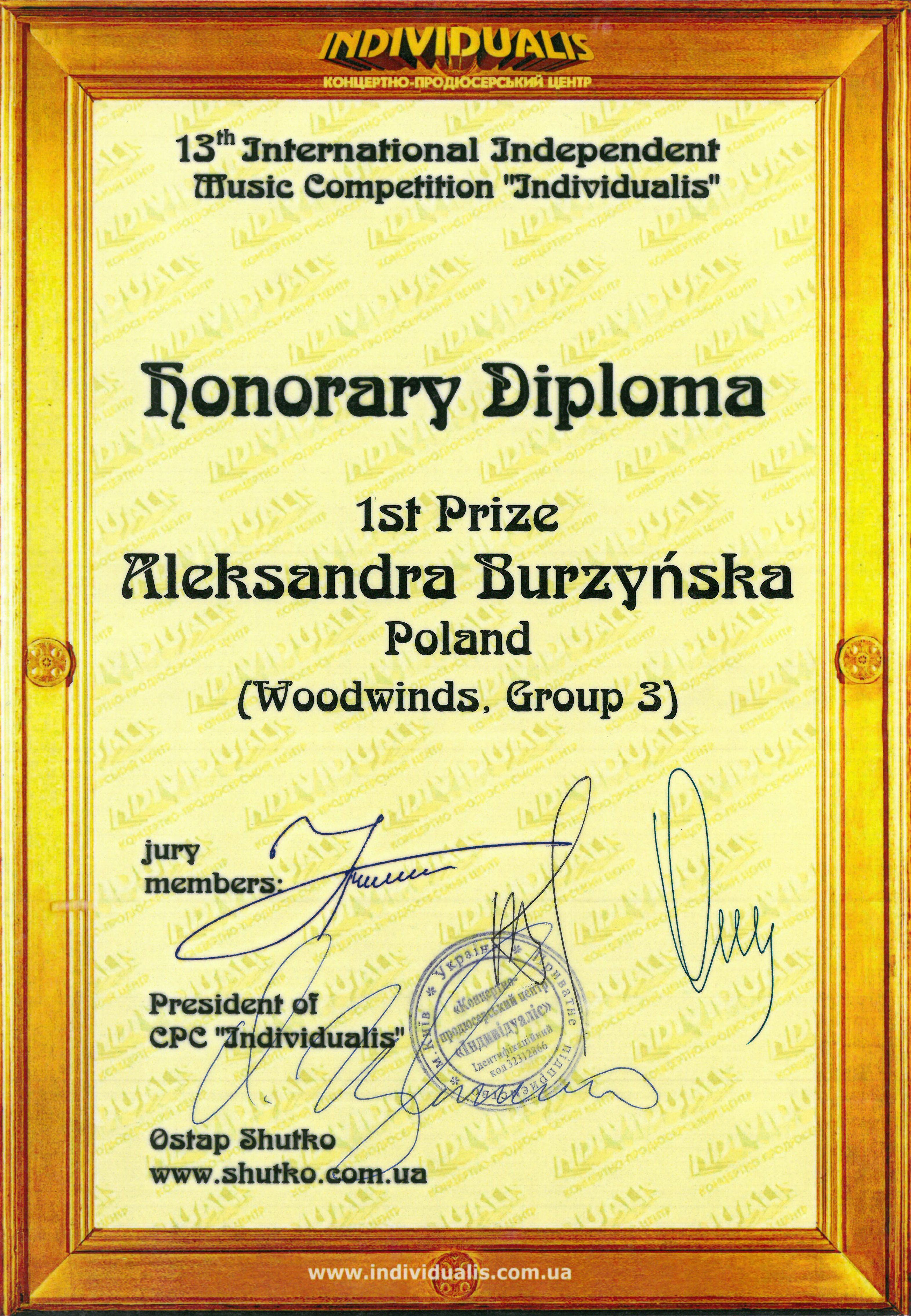 Burzynska_I nagroda_Kijow_2015