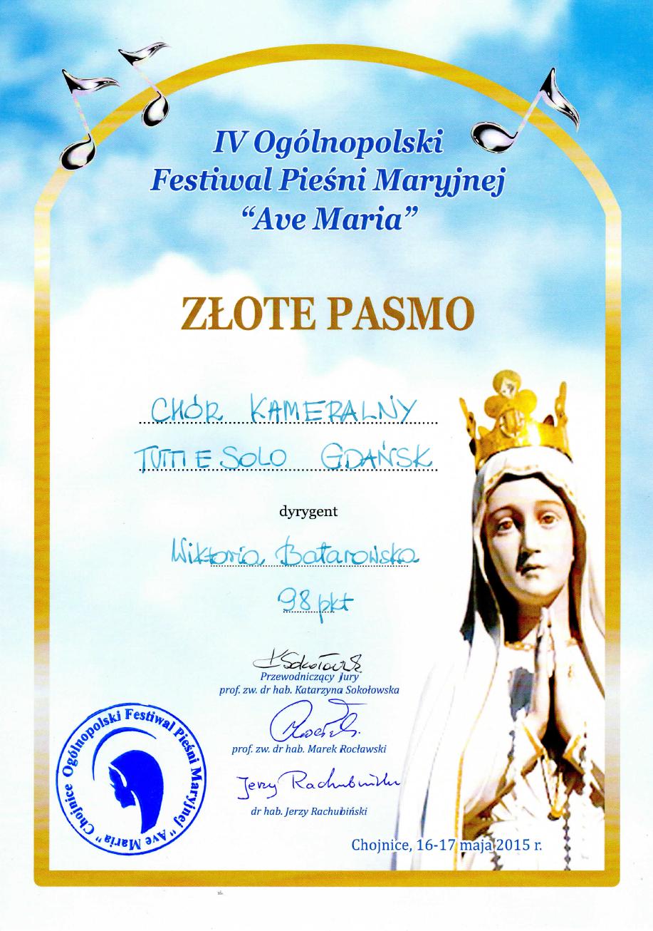 Tutti e Solo_Złote Pasmo_Chojnice