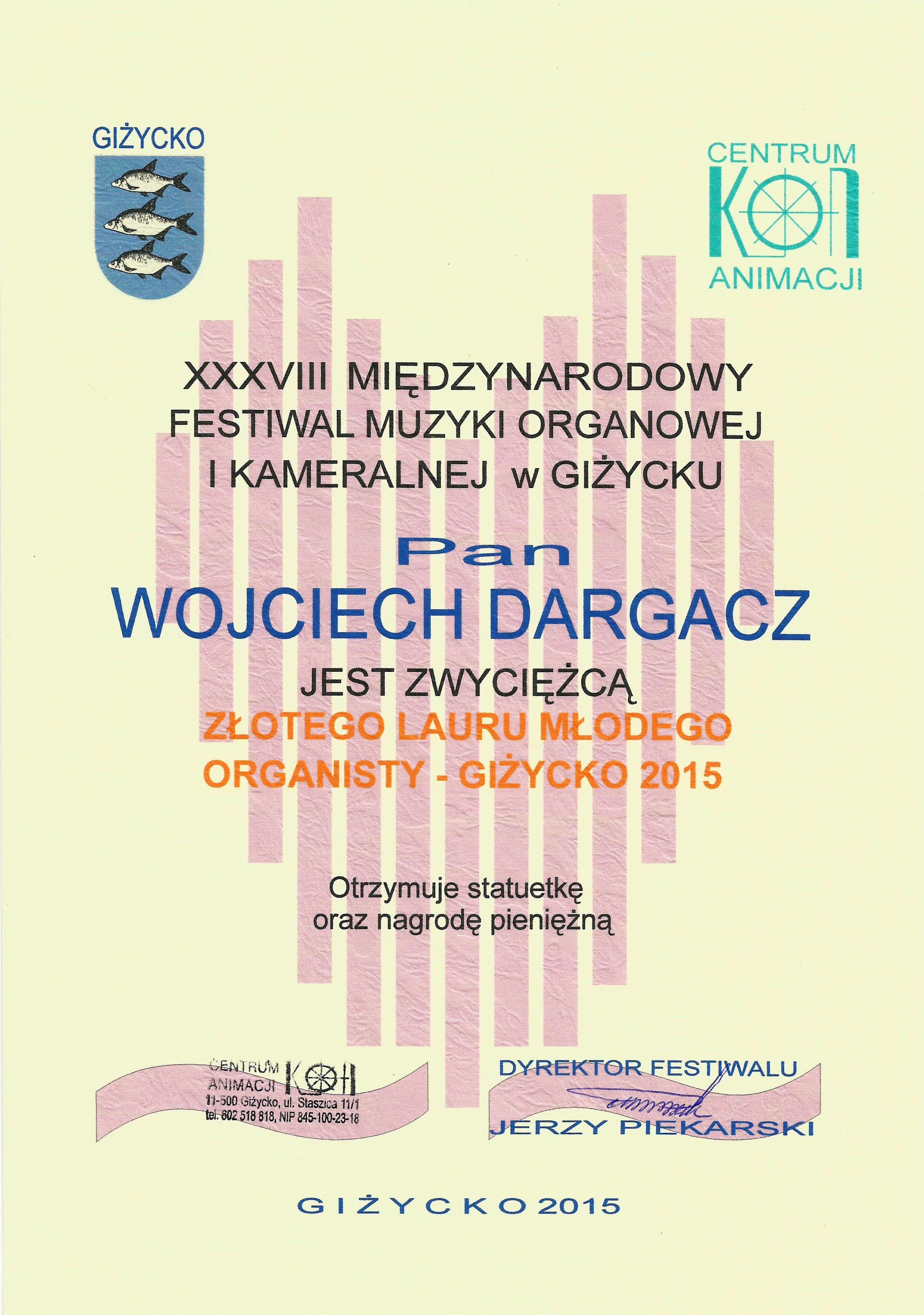 Wojciech Dargacz_dyplom_wyroznienie