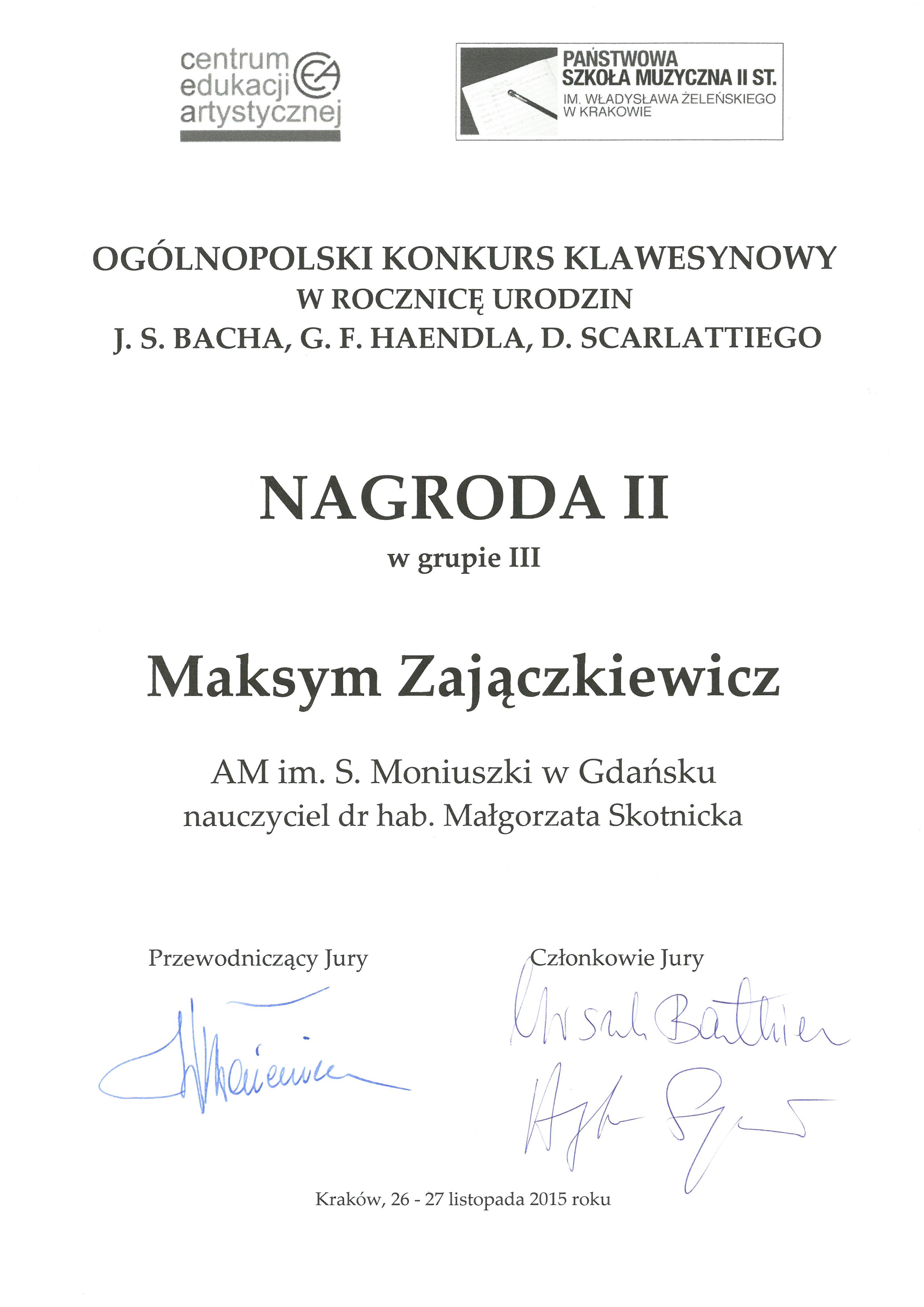 Zajaczkiewicz_II nagroda_Krakow_2015
