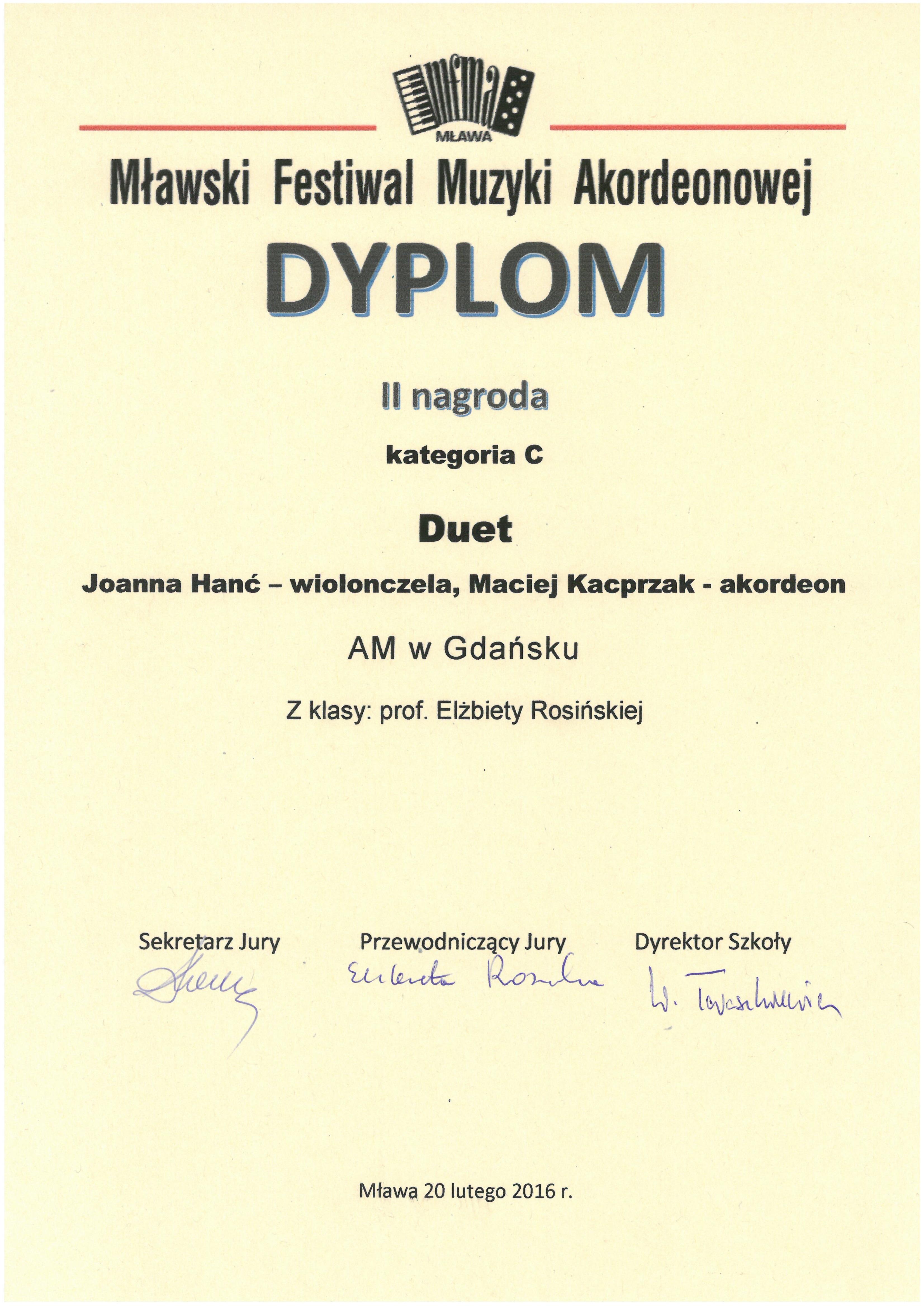 Duet_Hanc-Kacprzak_II nagroda_MFMA_2016