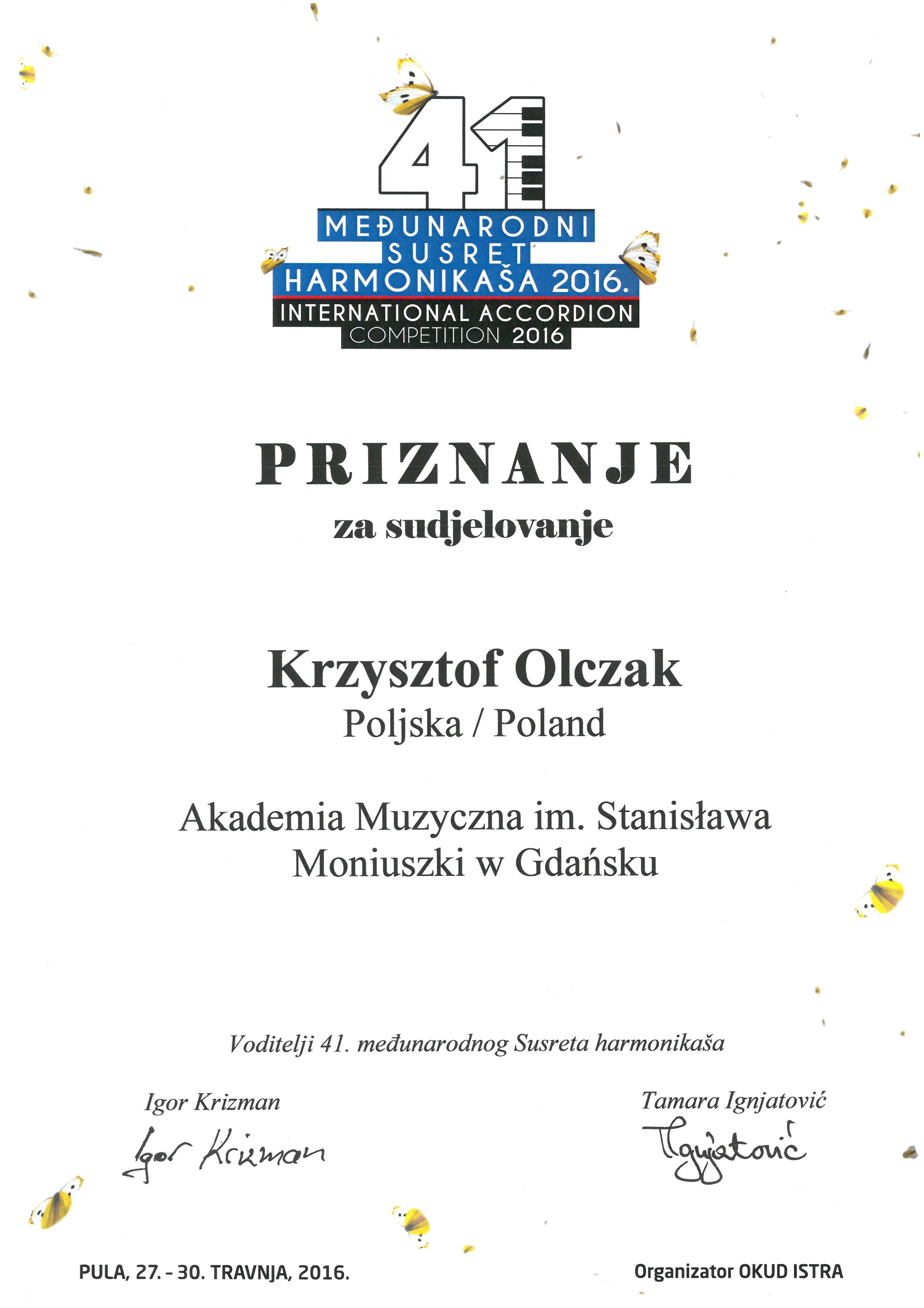 Krzysztof Olczak_Pula_2016